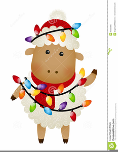 Christmas Sheep Clipart.