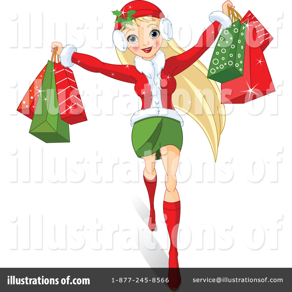 Christmas Shopping Clipart #435736.