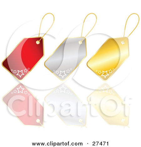 Christmas Gifts Silver And Gold Clipart.