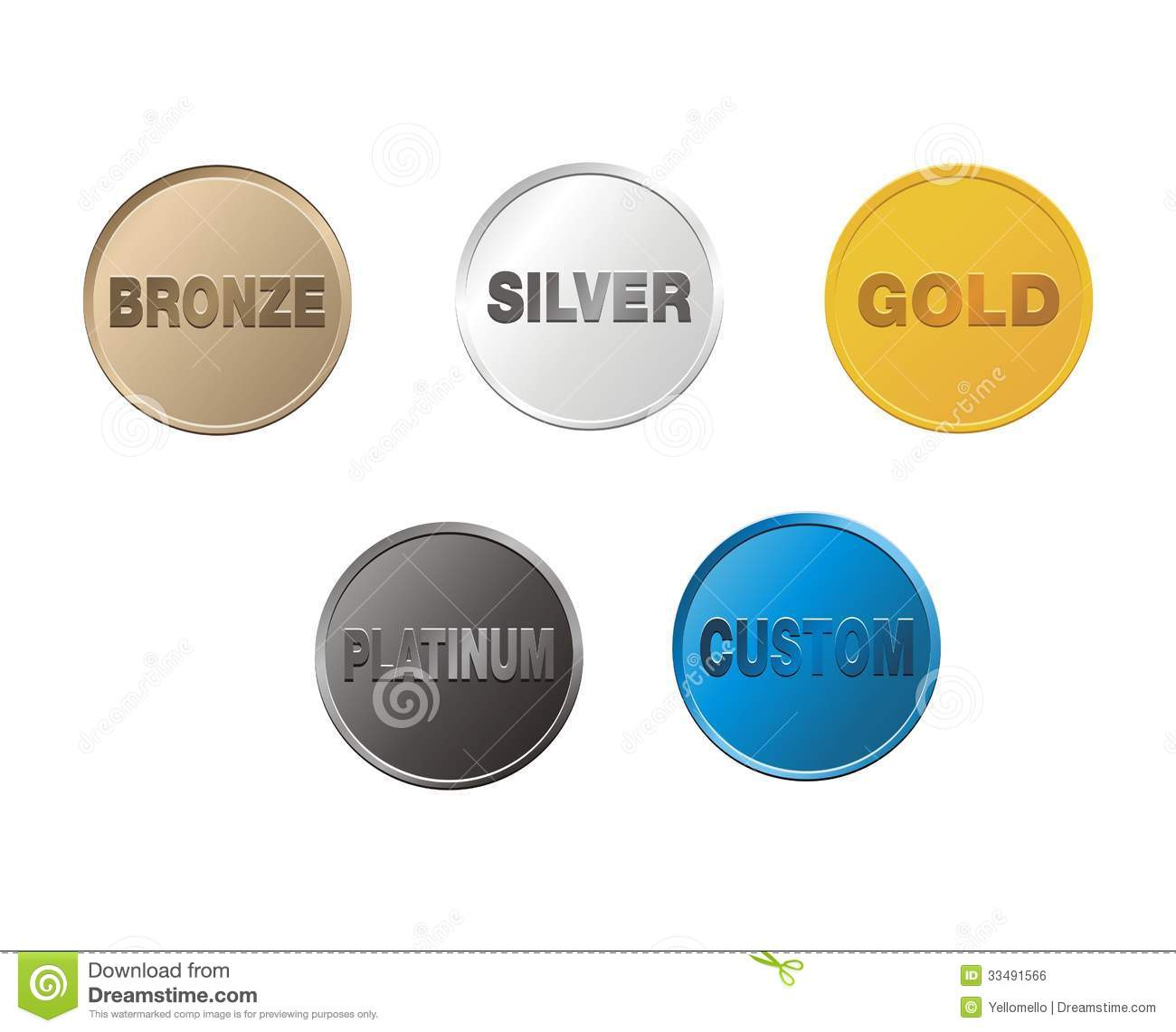 Clipart Platinum Gold Silver Bronze.