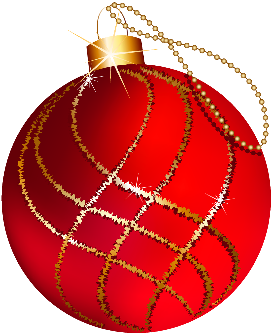 Red And Gold Christmas Ornament Clipart.