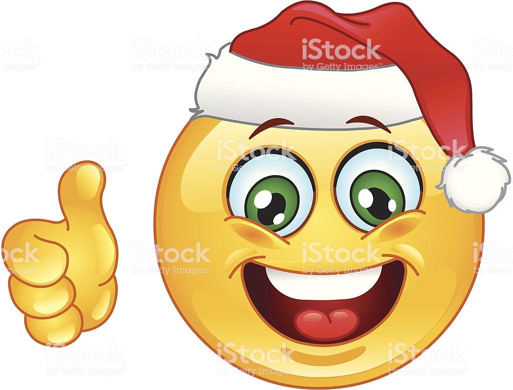 Christmas Emoticon Stock Illustration.