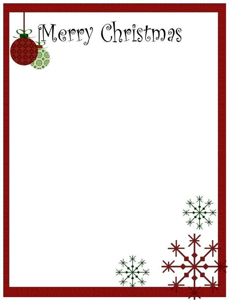 Printable Christmas Stationery to Use for the Holidays.