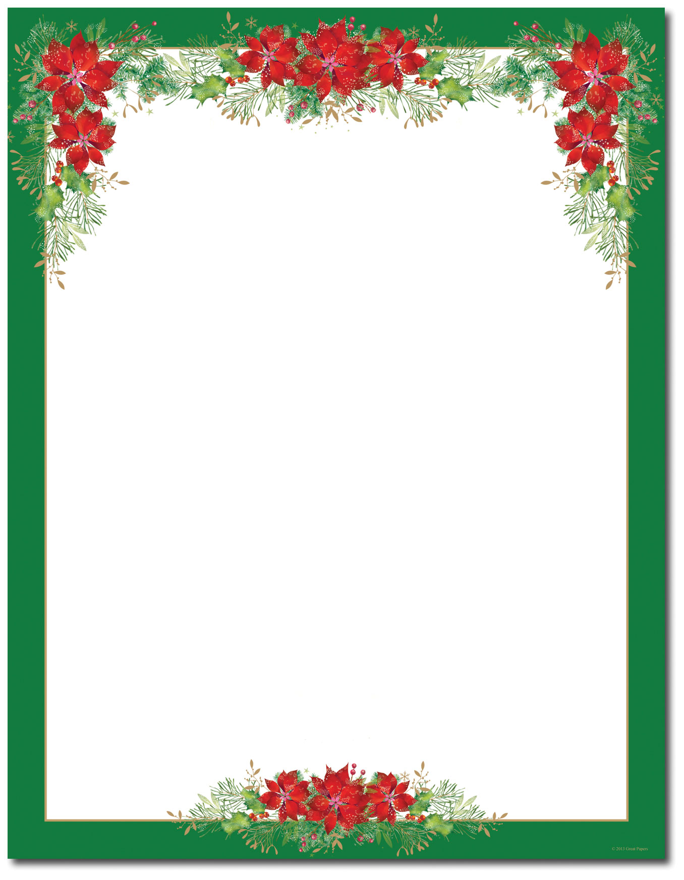 15 Poinsettia Page Border Designs Images.