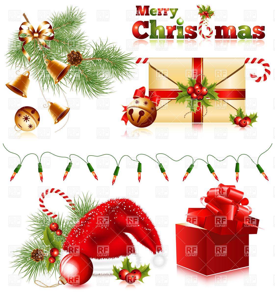 Set of christmas symbols Stock Vector Image.