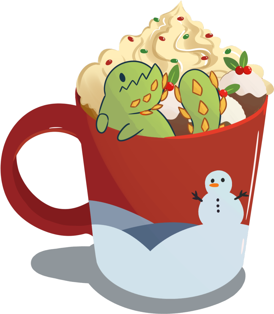 Free Christmas Tea Cup Clipart.