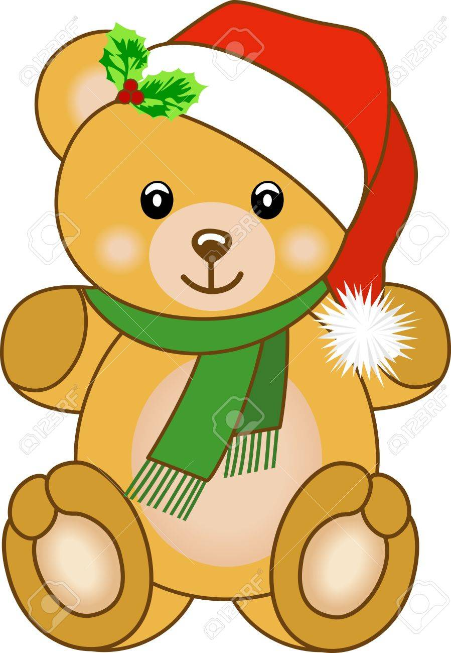 Christmas teddy bear.