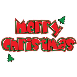 Free Merry Christmas Clipart Image.