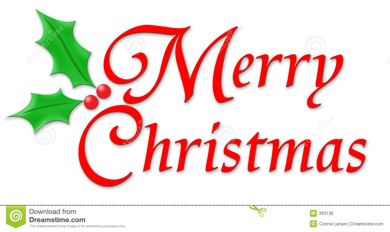 Free Clipart Merry Christmas Text.