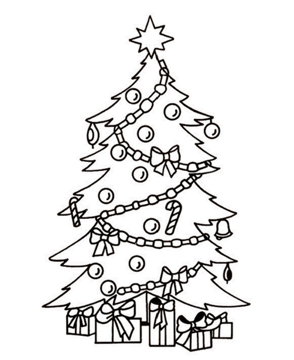 Free Free Christmas Tree Clipart Black And White, Download.