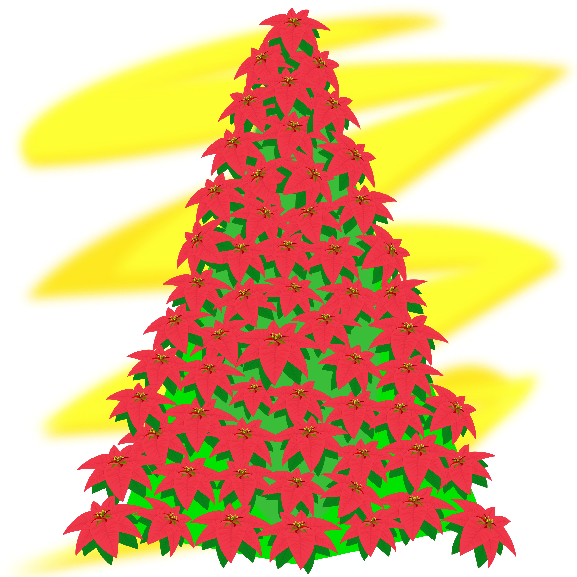 free christmas tree clipart red silhouette 20 free ... (2400 x 2400 Pixel)