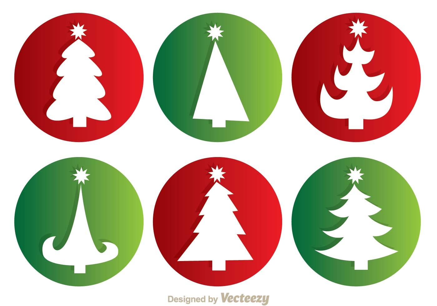 Christmas Tree Silhouette Free Vector Art.