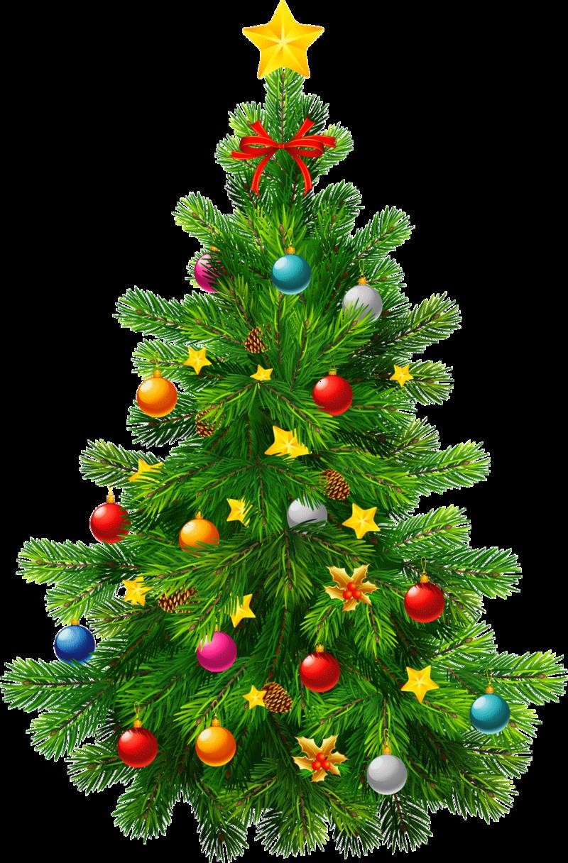 Christmas tree transparent clipart #35282.