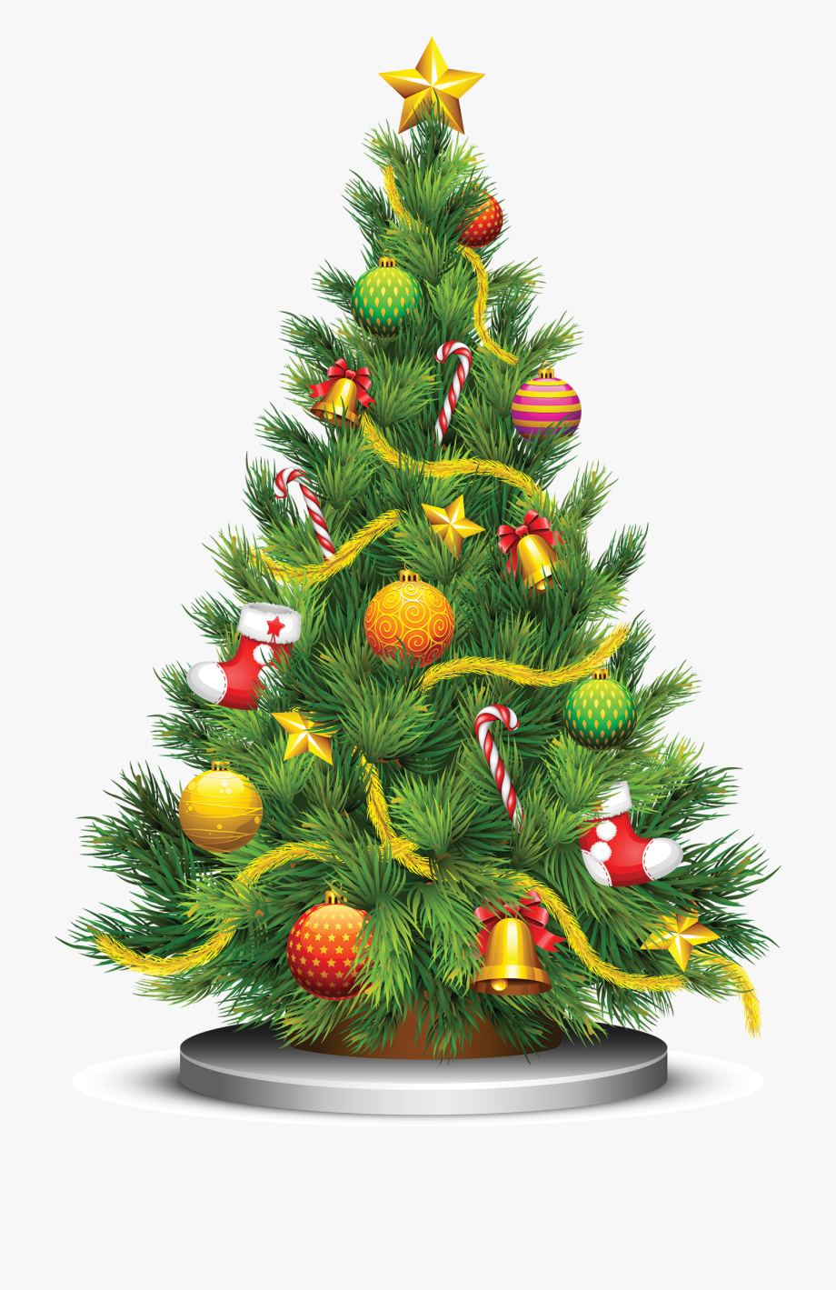 Hawaiian Clipart Christmas Tree.