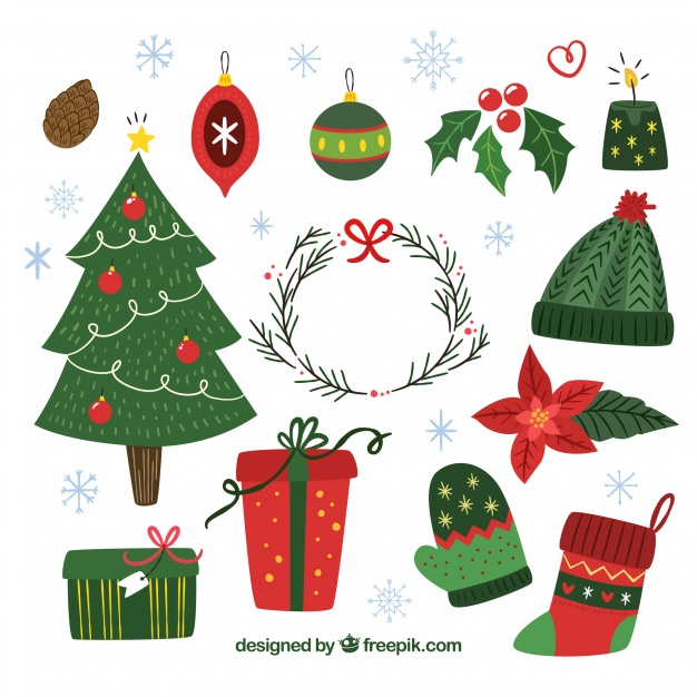 Christmas Elements Clipart.