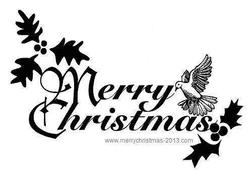 Merry Christmas Clip Art Words.