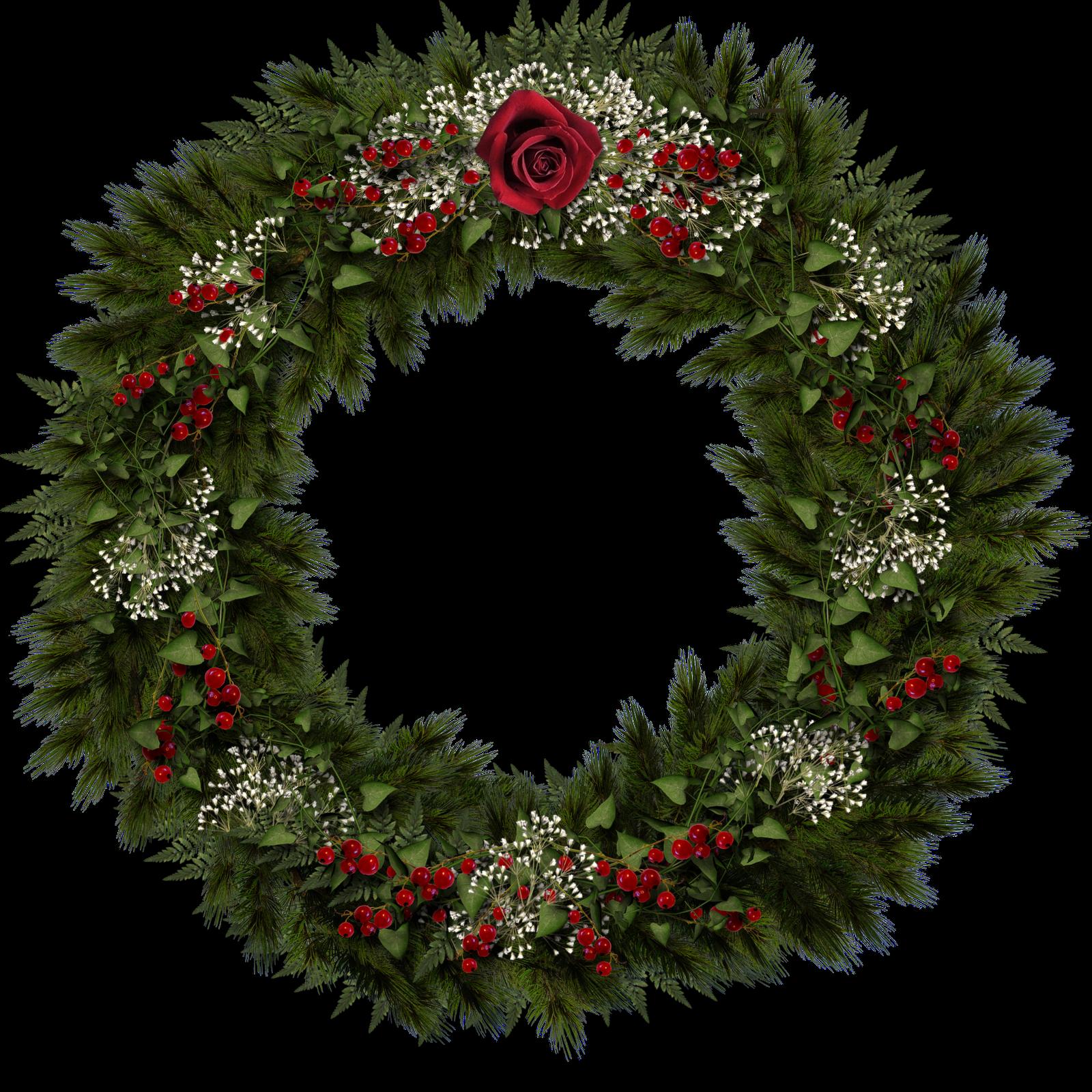 free christmas wreath border clip art - Clipground