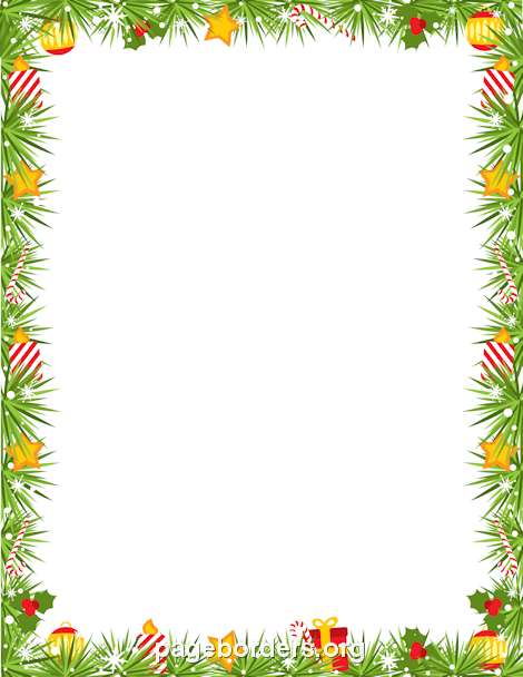 Free Christmas Borders Clip Art Page And Vector Graphics Garland Border