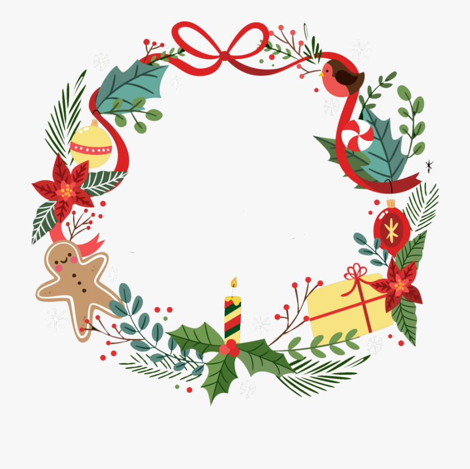 Christmas Wreath Border Png , Transparent Cartoon, Free.