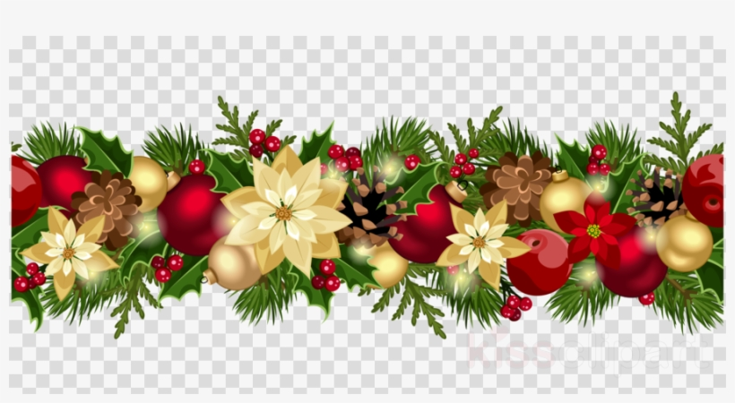 Christmas Garland Border Png Clipart Garland Christmas.