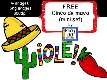 FREE Cinco de mayo/Mexico Clipart.