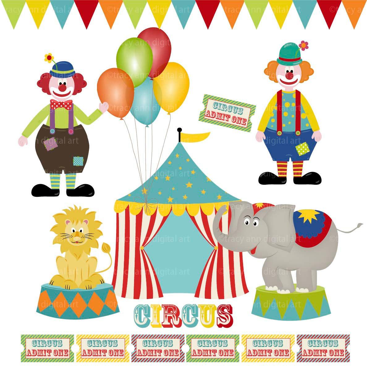 Free Circus Flag Clipart.