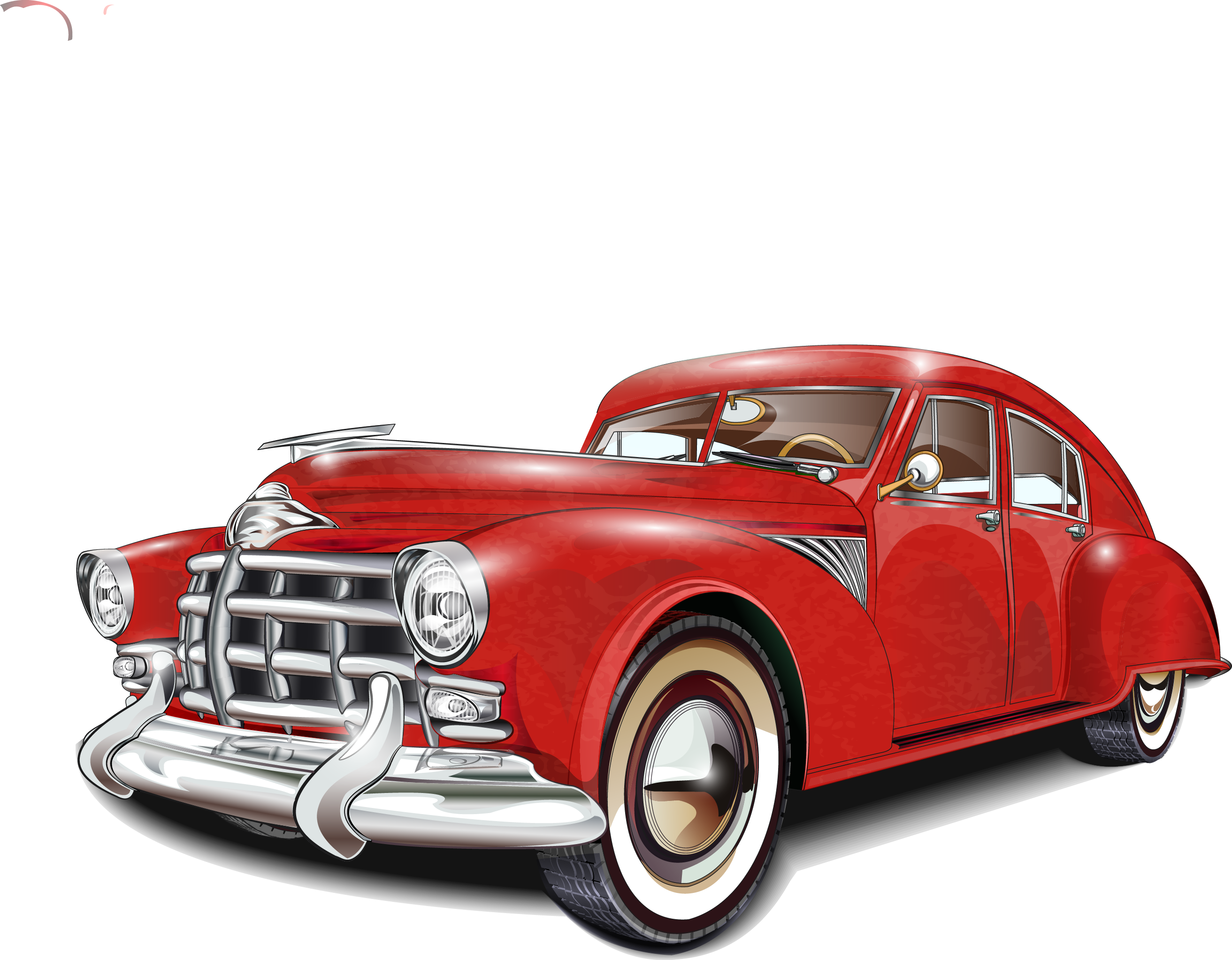 Classic car vector clipart images gallery for free download.
