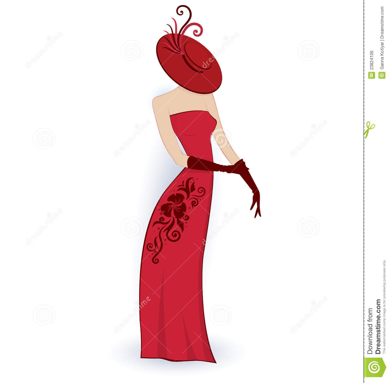 Classy lady clipart.
