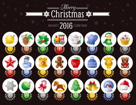 Merry Christmas Icon Set With Xmas Icons, #331549.