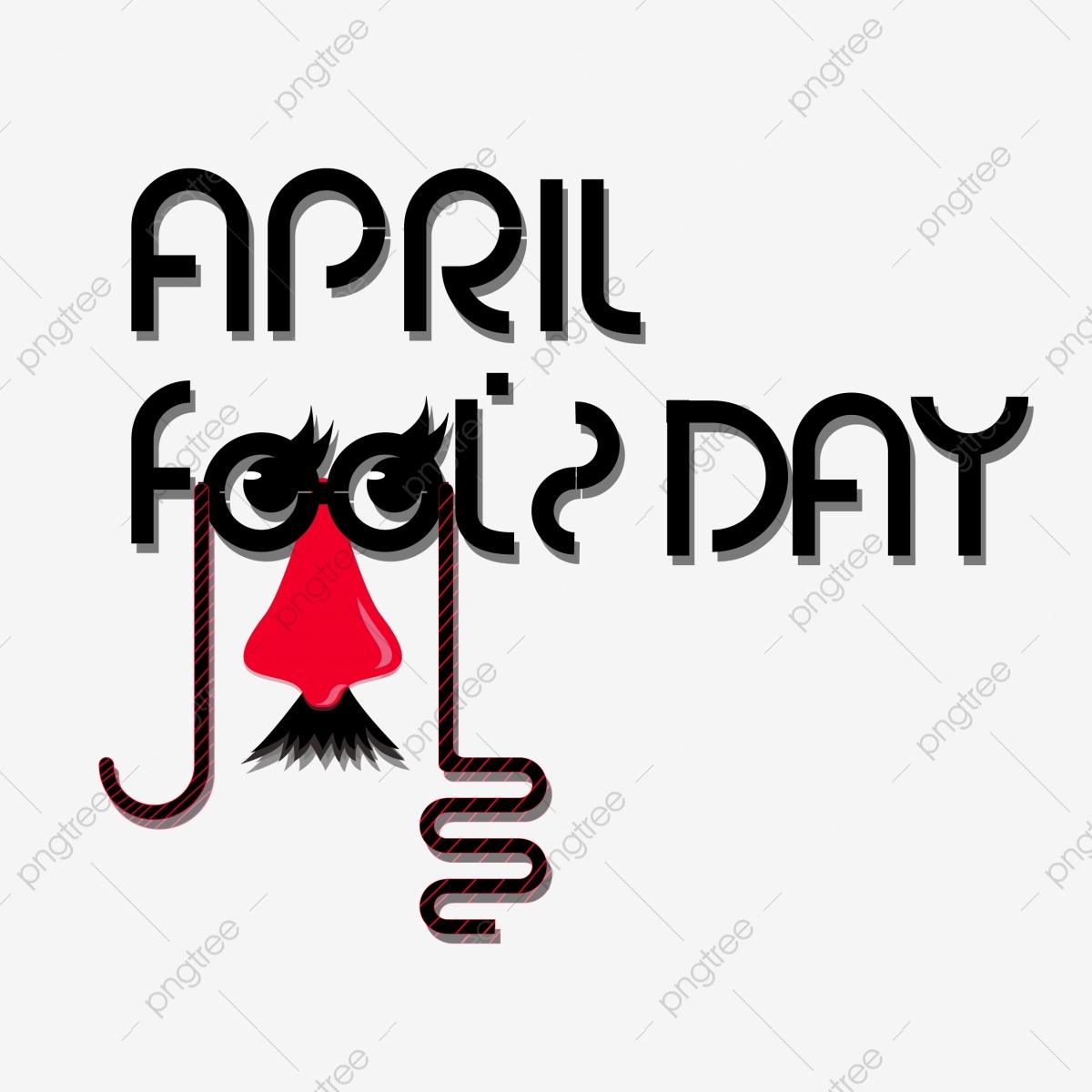 Wordart April Fools Day Theme April Fool`s, Clown Nose, Glasses.