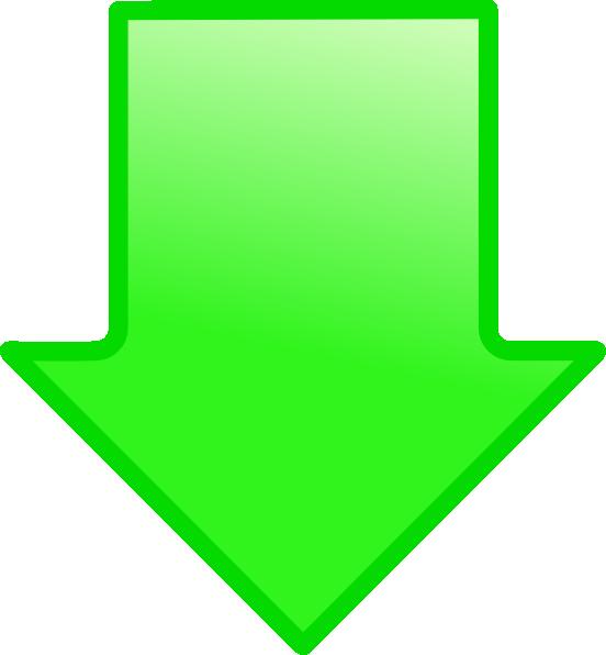 Green Arrow Down clip art.