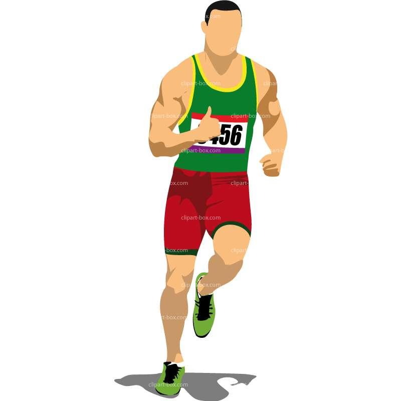 Clip Art Athletes Running.