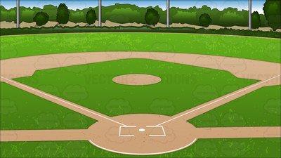 Baseball Diamond Clipart & Free Clip Art Images #11542.