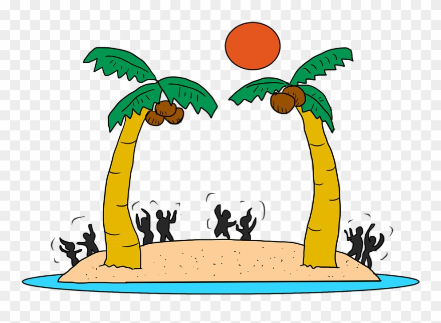 Beach Party Cartoon Free Clipart (#1230345).