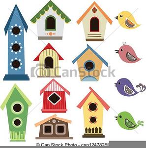 Bird Houses Clipart.