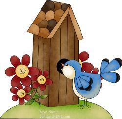 BIRDHOUSE AND BIRD *.