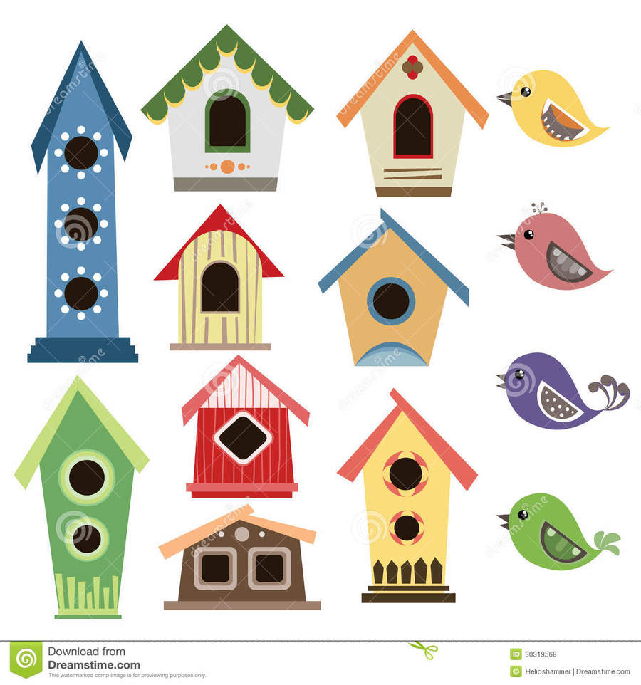 Download bird house images free clipart Clip art.