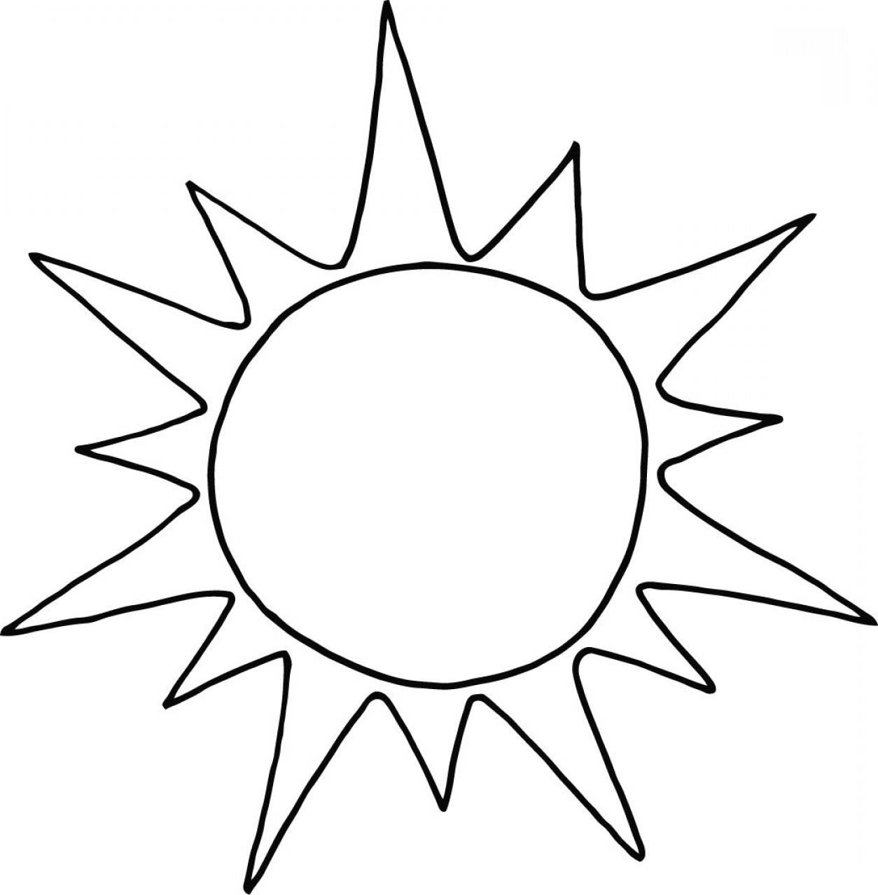 Cute Sun Clip Art Black And White Excellent Draw ClipArTime.