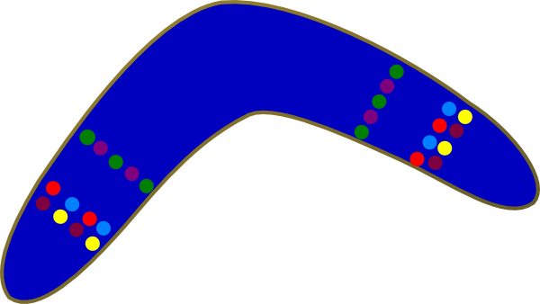 Blue Boomerang Clip Art at Clker.com.