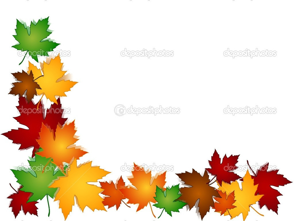 Fall Leaves Border In Clip Art.