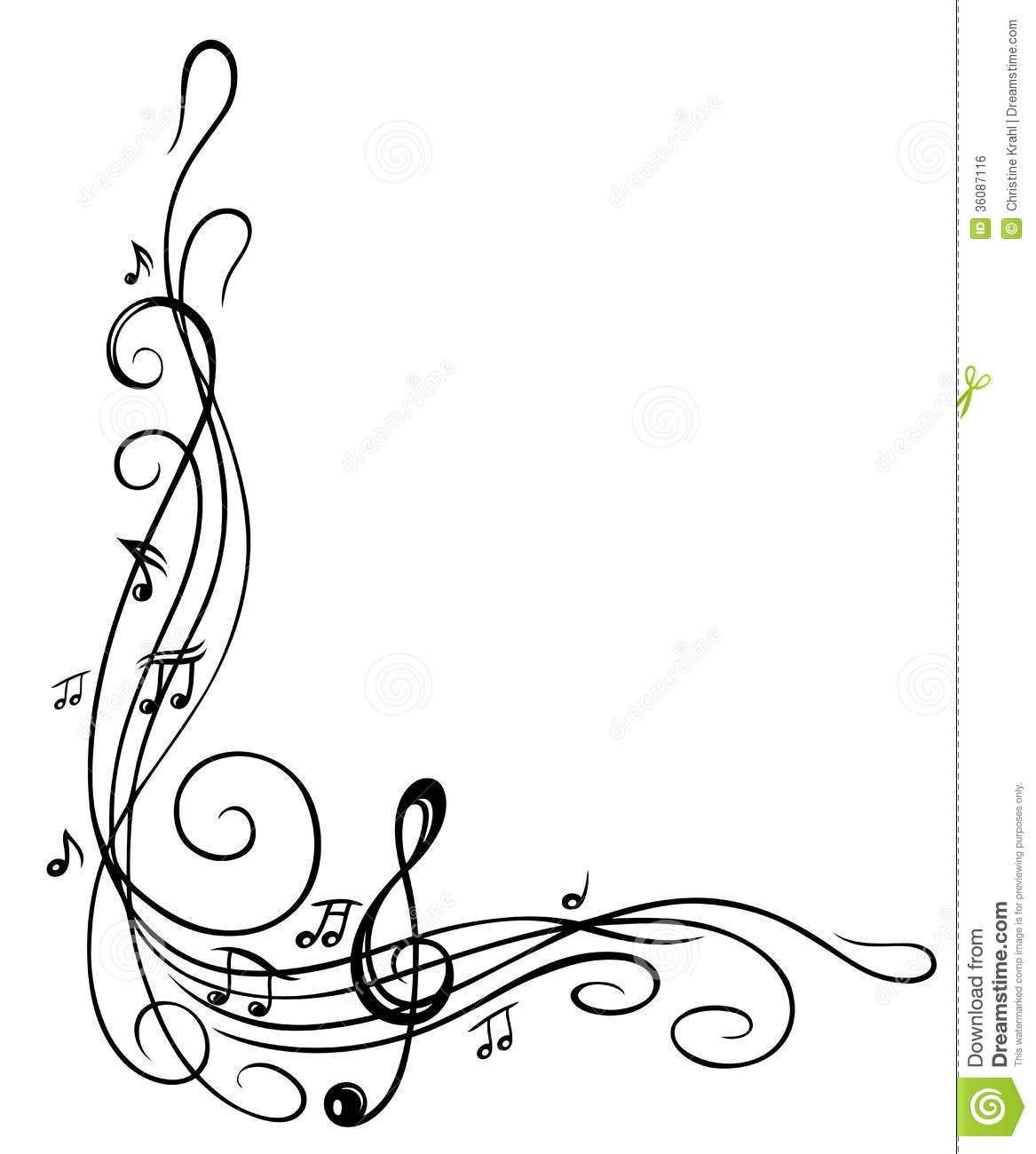 Pix For > Music Notes Border.