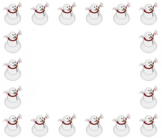Best Snowman Border Clip Art #22413.