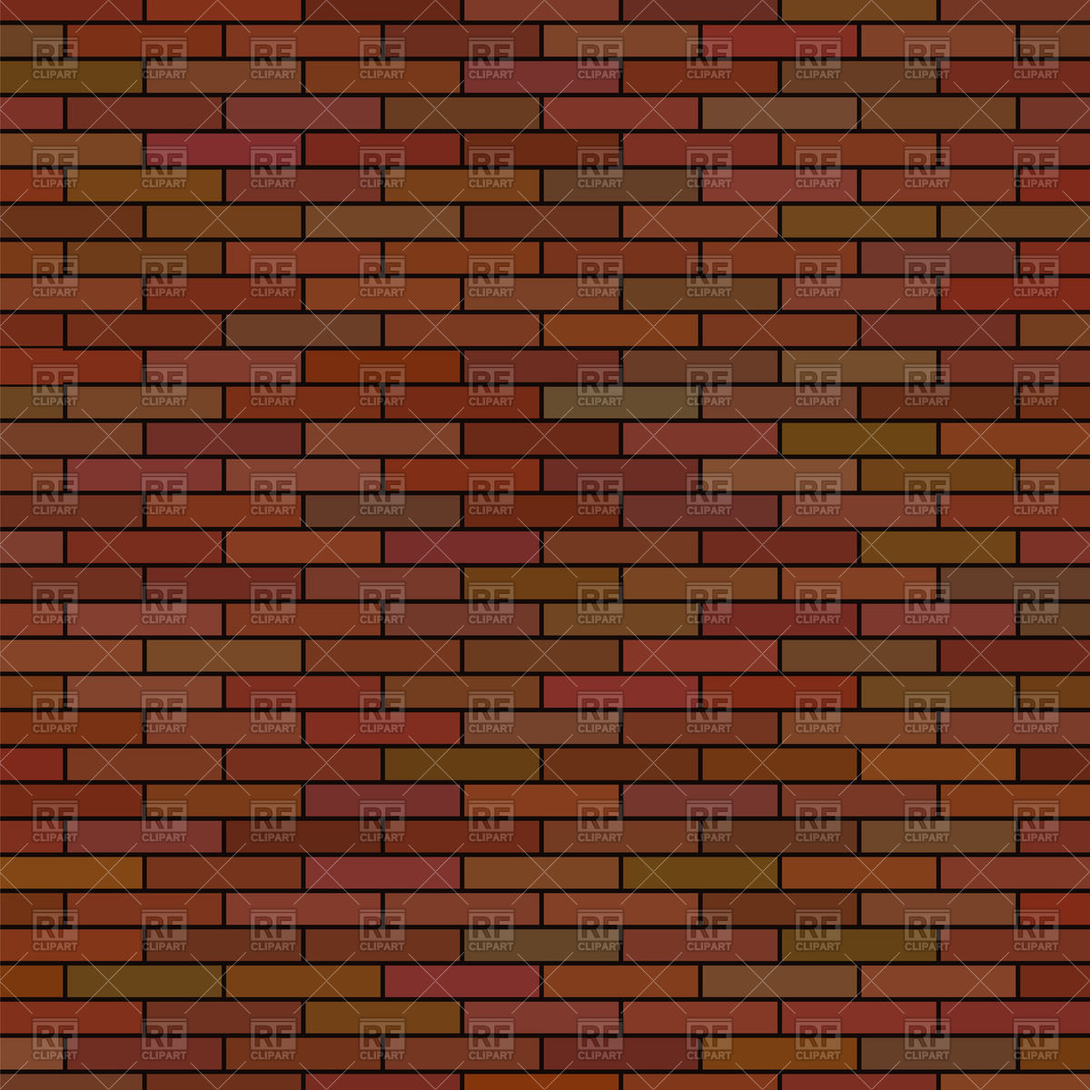 Brown brick wall background Stock Vector Image.
