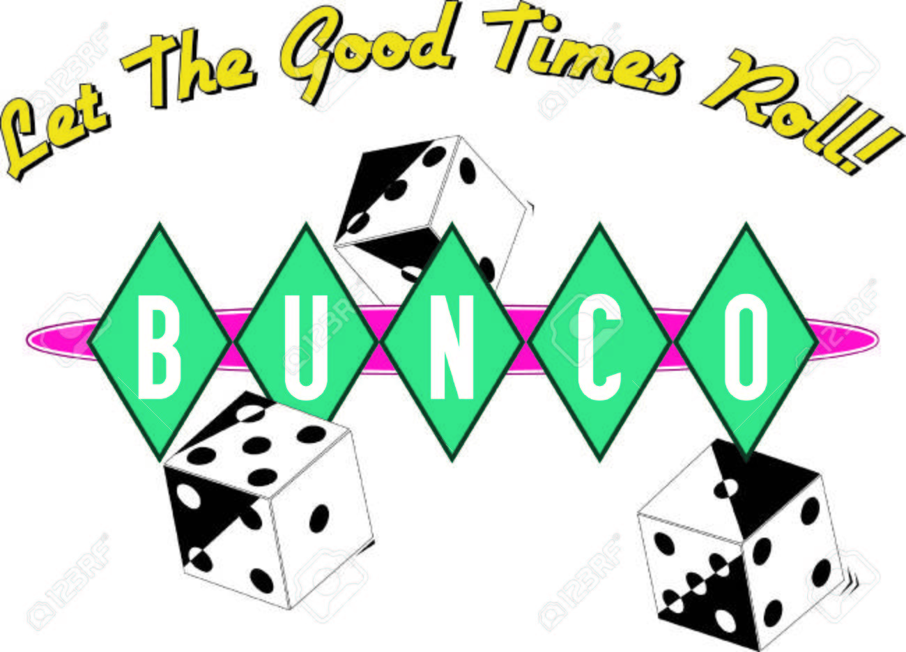 Bunco starts with a roll of the dice What a fun visual for a...