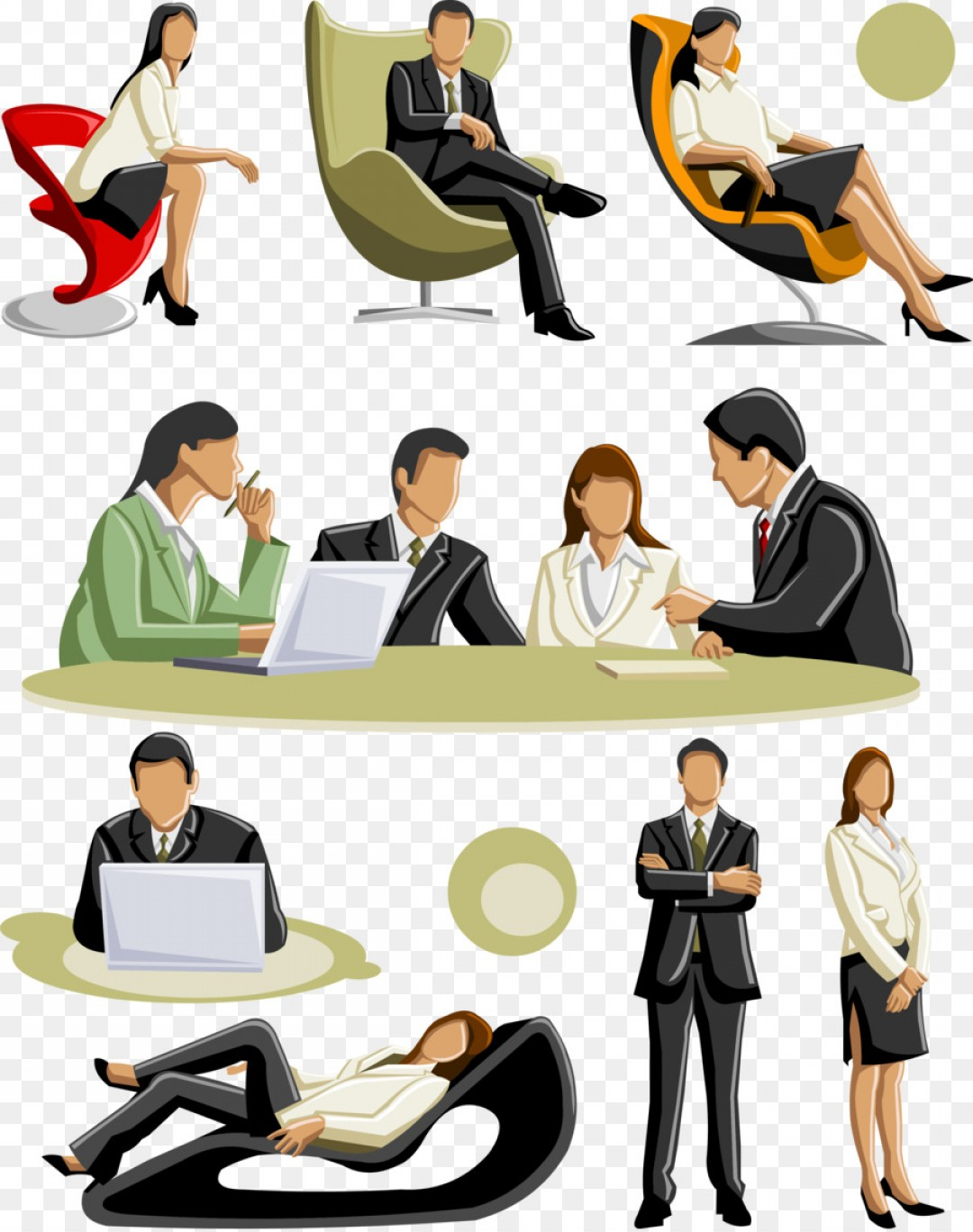 Businessperson Royalty Free Clip Art Vector Business People Talking.