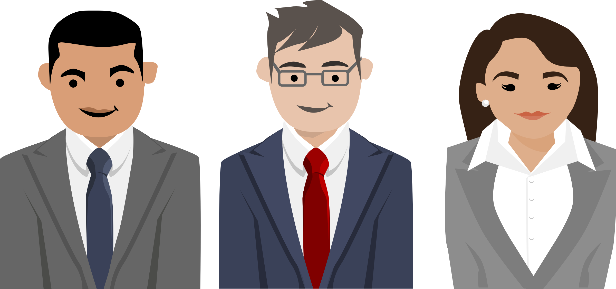 Business people characters Vector Clipart image.