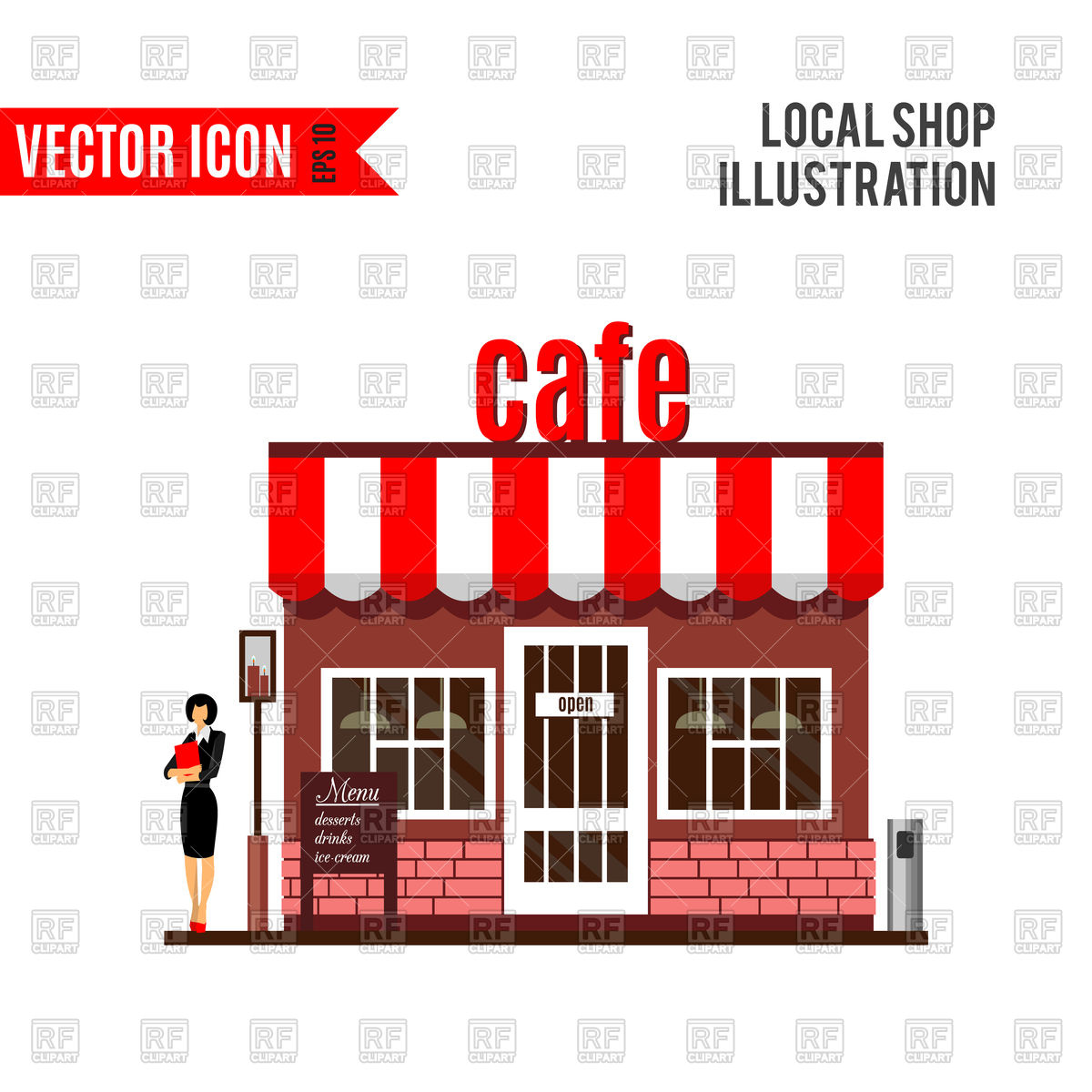 Restaurant or cafe Stock Vector Image.