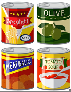 Free Clipart Cans Of Food.