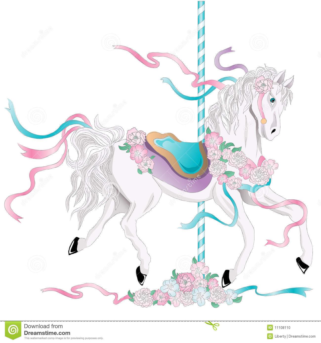 Carousel Horse stock vector. Illustration of child, decoration.
