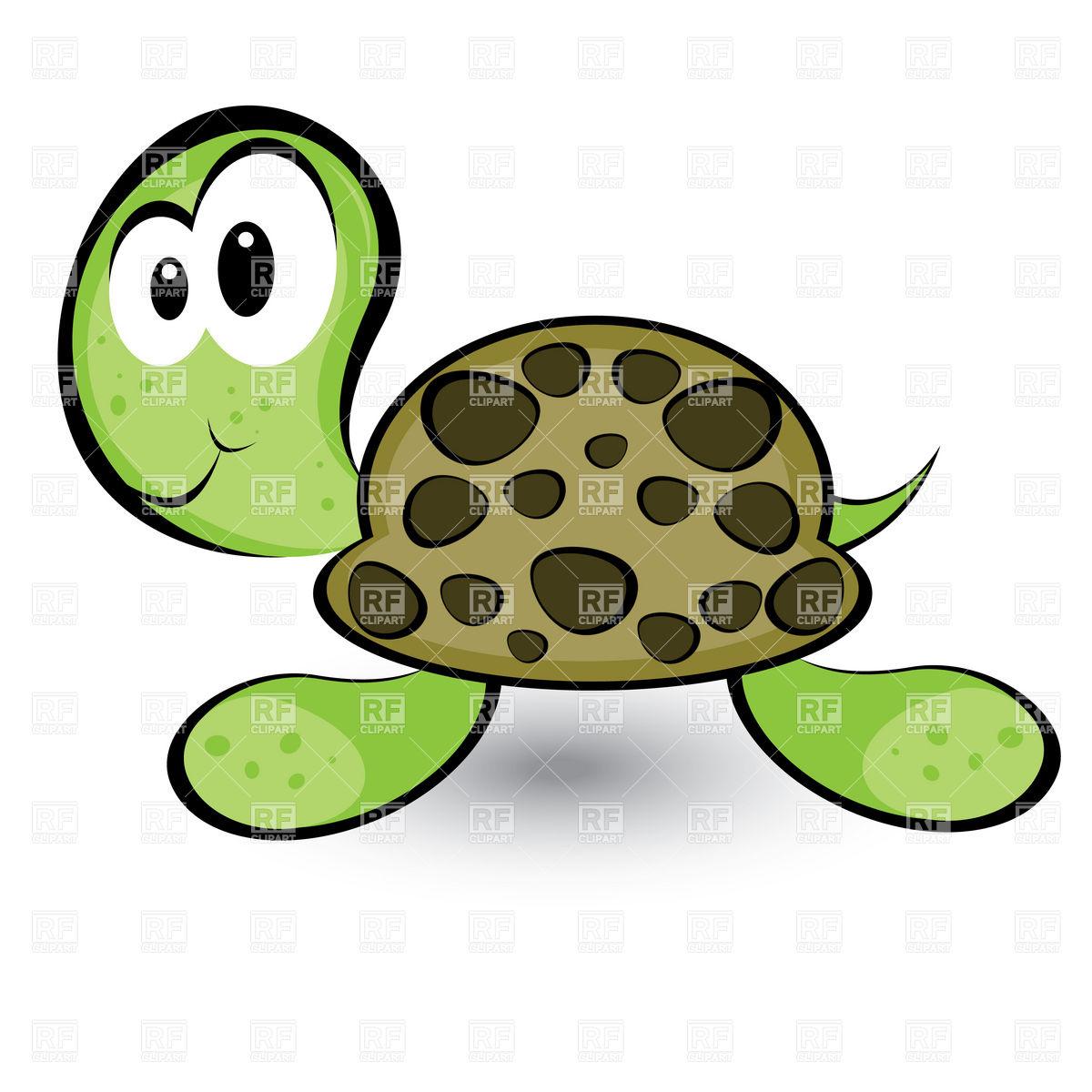 Cute Turtle Clip Art.